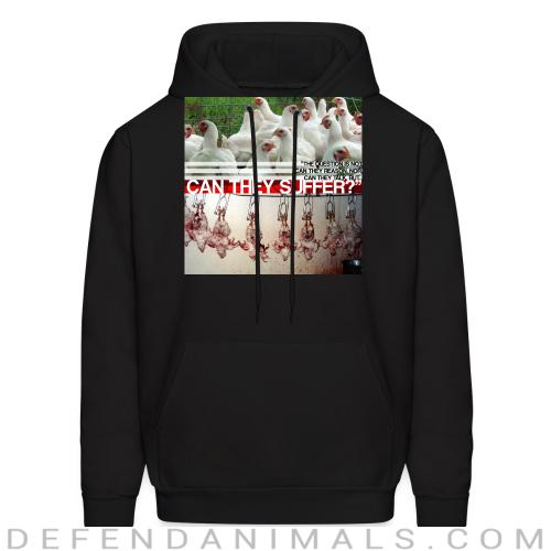 The question is not can they reason, nor can they talk, but... can they suffer? - Vegan Hooded sweatshirt