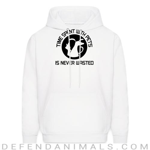 time spent with pets - Dogs Lovers Hooded sweatshirt