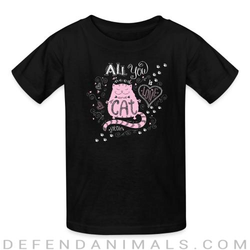 all you cat meow - Cats Lovers Kids t-shirt