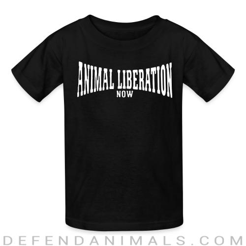 Animal liberation now - Animal Rights Activism Kids t-shirt