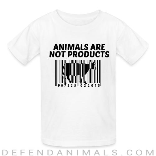 Animals are not products - Animal Rights Activism Kids t-shirt