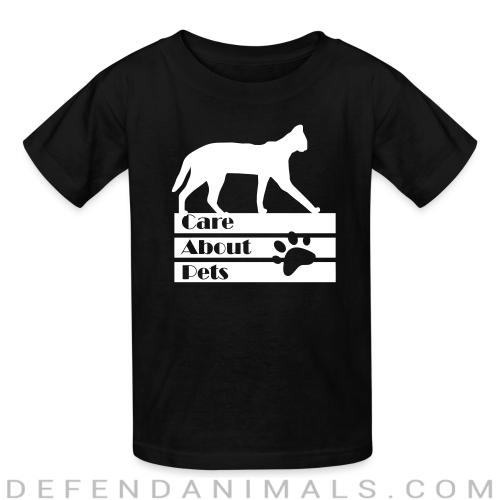 Care about pets - Cats Lovers Kids t-shirt