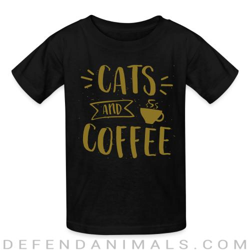 Cats and coffee - Cats Lovers Kids t-shirt