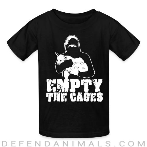 Empty the cages - Animal Rights Activism Kids t-shirt