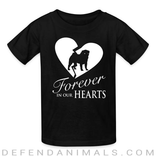 Forever in your heart pug  - Dog Breeds Kids t-shirt