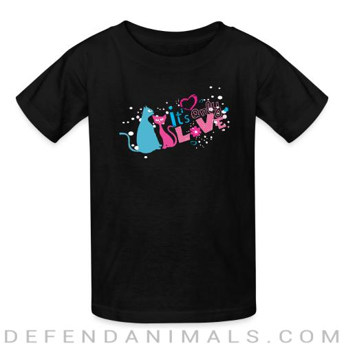 It's only love  - Cats Lovers Kids t-shirt