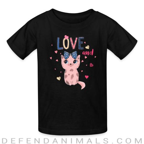 Love and cat  - Cats Lovers Kids t-shirt