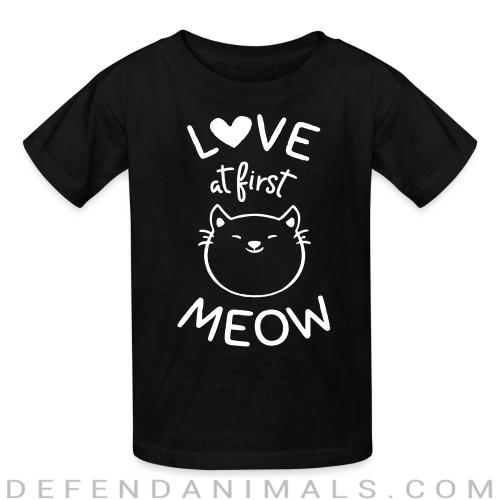 Love at first meow  - Cats Lovers Kids t-shirt