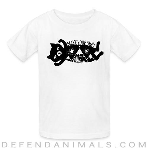 Make your own magic  - Cats Lovers Kids t-shirt
