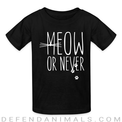 Meow or nerver  - Cats Lovers Kids t-shirt