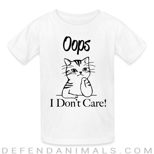 Oops I don't care ! - Cats Lovers Kids t-shirt
