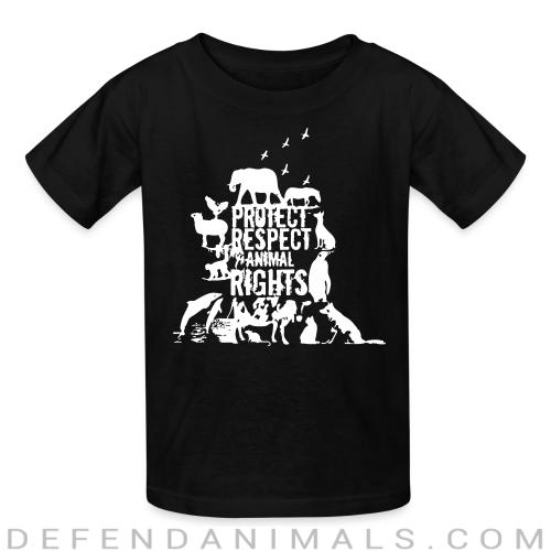 Protect respect animal rights - Animal Rights Activism Kids t-shirt