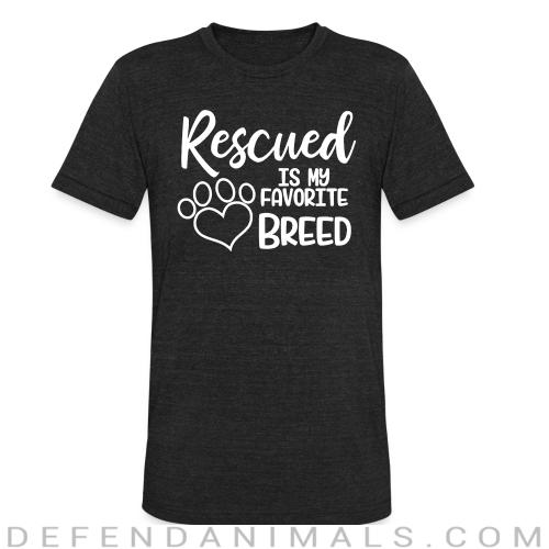 rescued is my favorite breed  - Dogs Lovers Local T-shirt