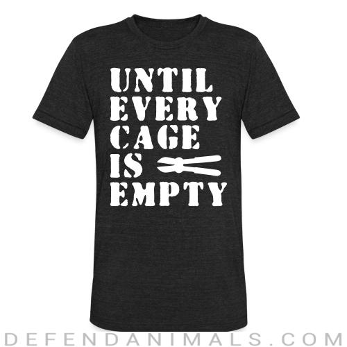 Until every cage empty - Animal Rights Activism Local T-shirt