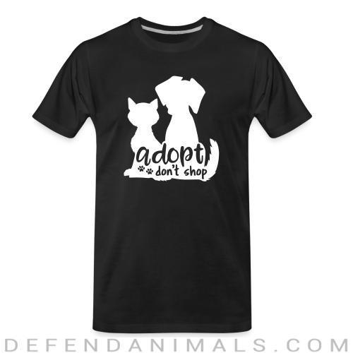 adopt don't shop  - Dogs Lovers Organic T-shirt
