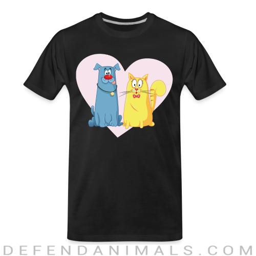 Cat and Dog  - Cats Lovers Organic T-shirt