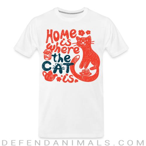 Home is where my cat is  - Cats Lovers Organic T-shirt