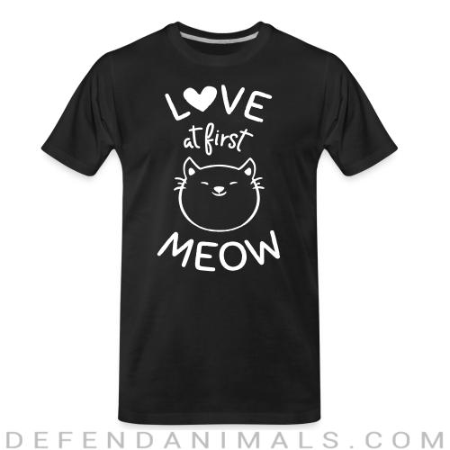 Love at first meow  - Cats Lovers Organic T-shirt