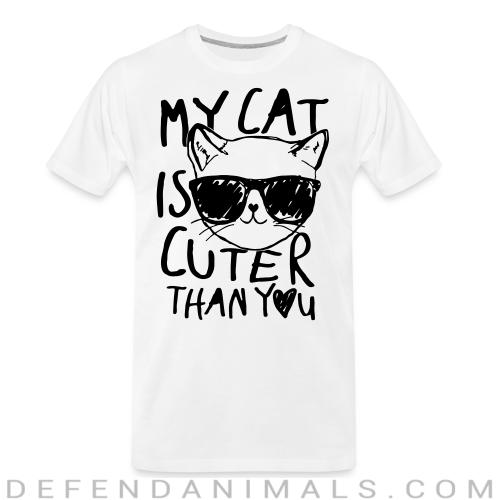 My cat is cuter than you  - Cats Lovers Organic T-shirt