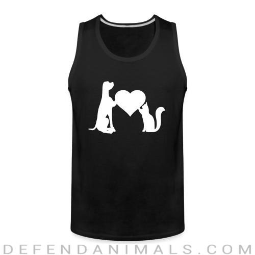 dog love cat  - Dogs Lovers Tank top