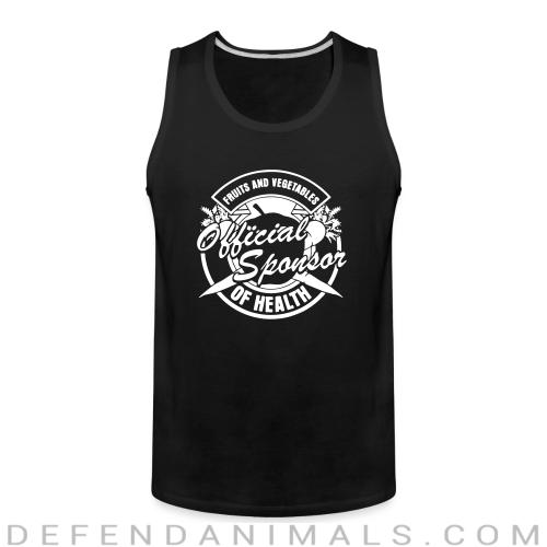 Fruits and vegetables official sponsor of health  - Vegan Tank top