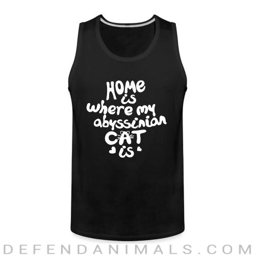 Home is where my abyssinian cat is - Cat Breeds Tank top