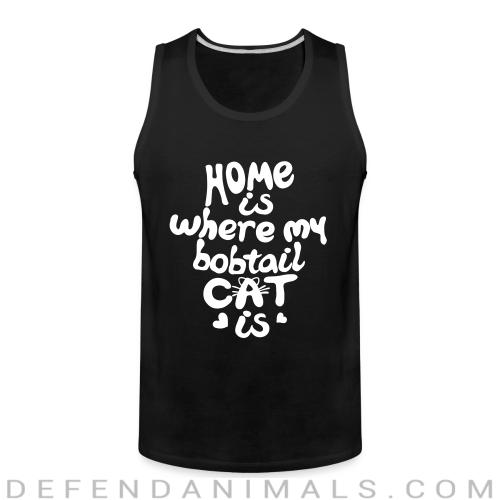 Home is where my bobtail cat is - Cat Breeds Tank top