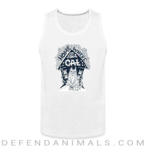 Home is where my cat is  - Cats Lovers Tank top