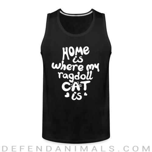 Home is where my ragdoll cat is - Cat Breeds Tank top