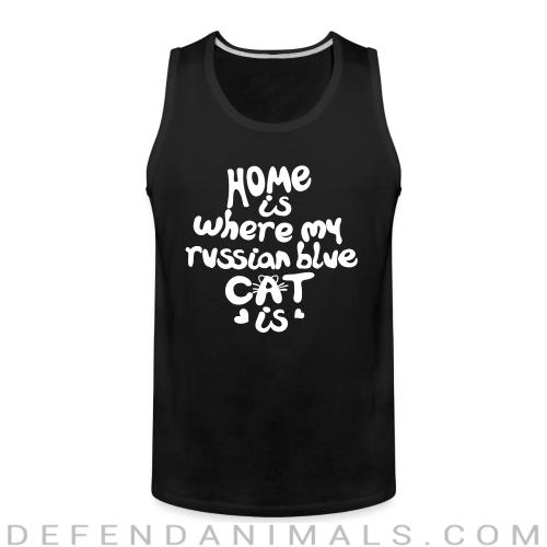 Home is where my russian blue cat is - Cat Breeds Tank top