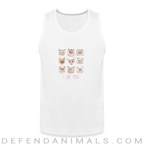 i love cats!  - Cats Lovers Tank top
