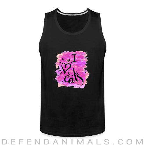 I love cats  - Cats Lovers Tank top