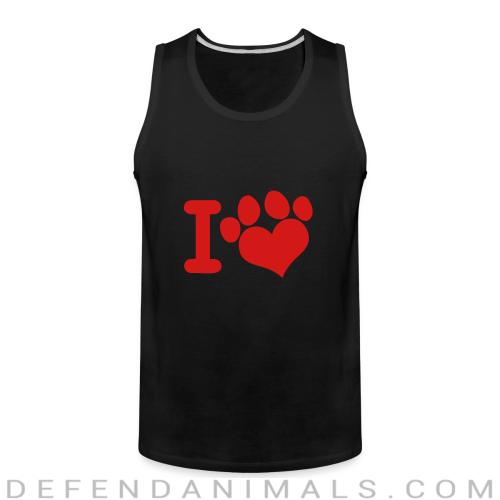 I love paw dog - Dogs Lovers Tank top