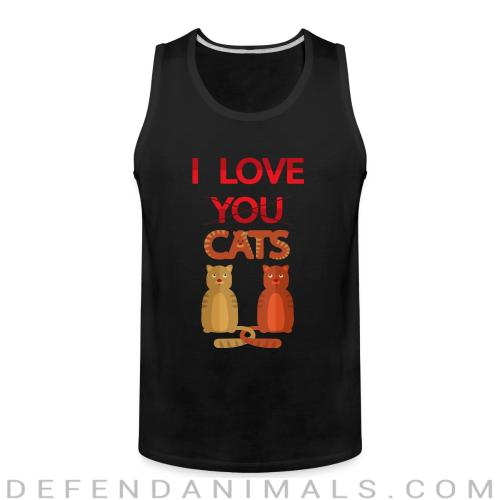 I love you cats  - Cats Lovers Tank top