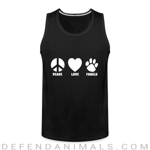 PEACE LOVE FAMILY  - Dogs Lovers Tank top