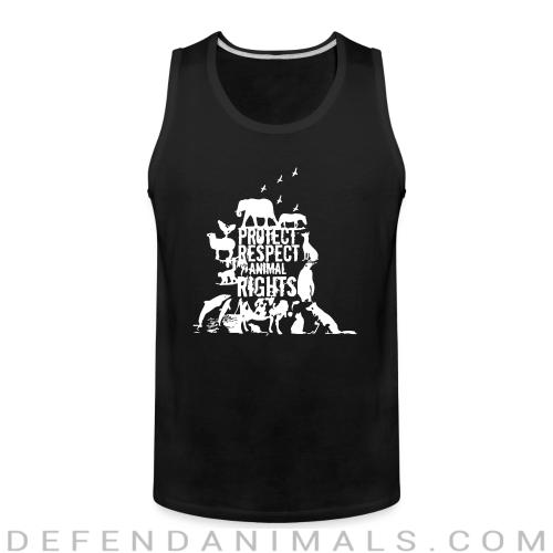 Protect respect animal rights - Animal Rights Activism Tank top