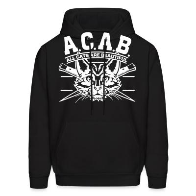 Hoodie A.C.A.B. All Cats Are Beautiful