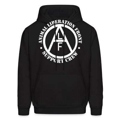 Hoodie ALF Animal Liberation Front support crew