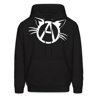Hoodie Anarchy cat