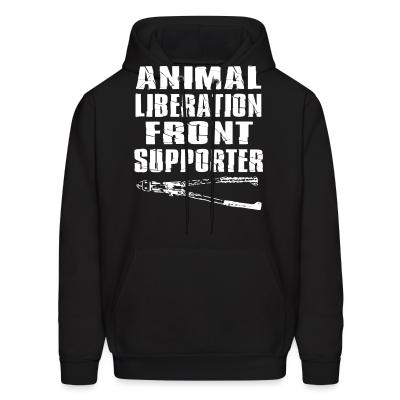 Hoodie Animal liberation front supporter