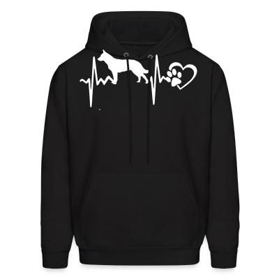 Hoodie Australian Cattle Dog heartbeat