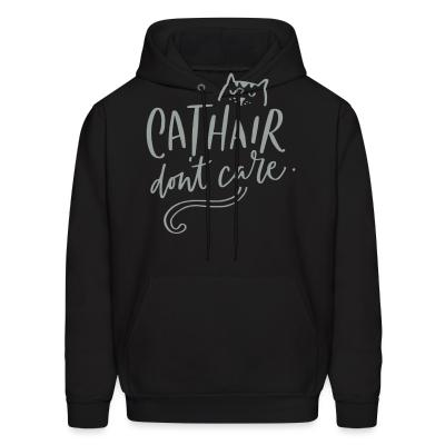 Hoodie Cathair don't care