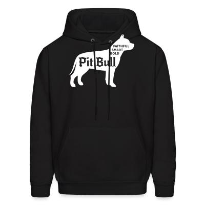 Hoodie Faithful smart bold pitbull