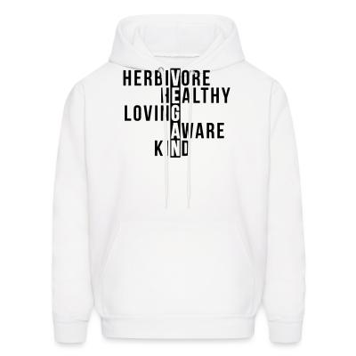 Hoodie Herbivore healthy loving aware kind vegan