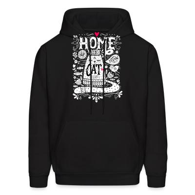 Hoodie home where cat is