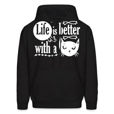 Hoodie life is better with a cat