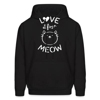 Hoodie Love at first meow