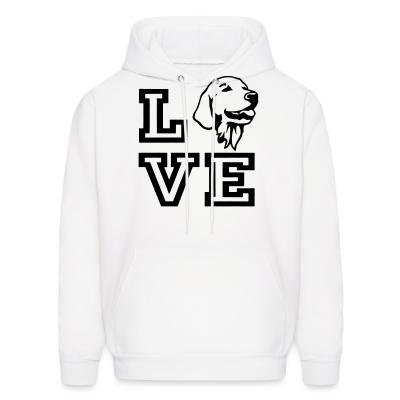 Hoodie love Golden Retriever