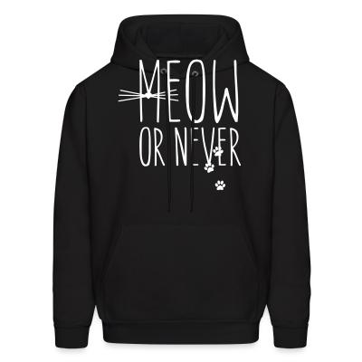 Hoodie Meow or nerver