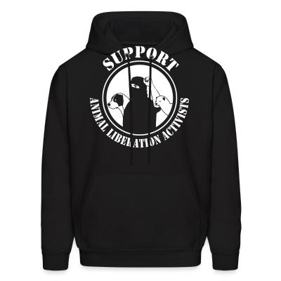 Hoodie Support animal liberation activists